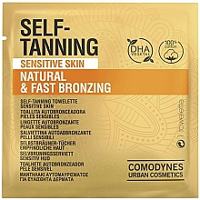 Kup Chusteczka samoopalająca do skóry wrażliwej - Comodynes Self-Tanning Sensitive Skin