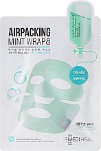 Kup PRZECENA! Miętowa kojąca maska w płachcie do twarzy - Mediheal Airpacking Mint Wrap Sheet Mask *