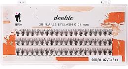 Kup Kępki rzęs - Ibra 20 Flares Eyelash Knot-Free Naturals C 8 mm