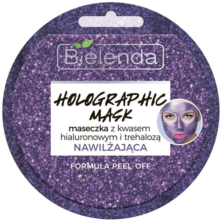 Nawilżająca maseczka peel-off z kwasem hialuronowym i trehalozą - Bielenda Holographic Mask