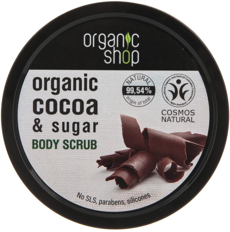 Scrub do ciała Belgijska czekolada - Organic Shop Body Scrub Organic Cocoa & Sugar