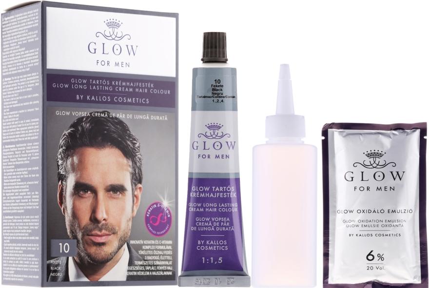 Farba do włosów - Kallos Cosmetics Glow Long Lasting Cream Hair Colour Man — фото N1