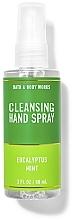 Kup Oczyszczający spray do rąk - Bath And Body Works Cleansing Hand Spray Eucalyptus Spearmint