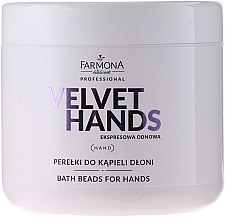 Kup Perełki do kąpieli dłoni z lilią - Farmona Professional Velvet Hands Bath Beads For Hands