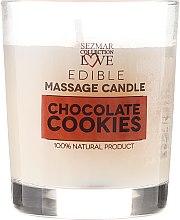 Naturalna świeca do masażu Czekoladowe ciasteczka - Sezmar Collection Love Edible Massage Candle — фото N2
