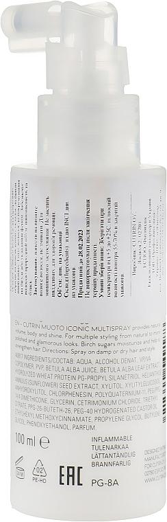 Termoochronny spray do włosów - Cutrin Muoto Iconic Multispray — фото N2