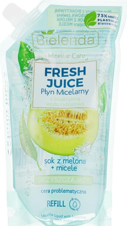 Oczyszczający płyn micelarny do cery problematycznej Melon - Bielenda Fresh Juice