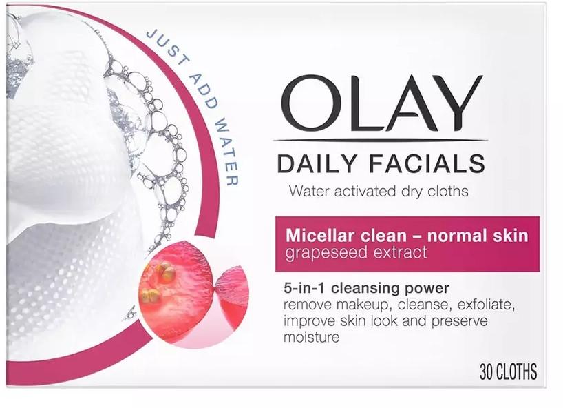 Chusteczki do demakijażu do skóry normalnej - Olay Cleanse Daily Facials Eater Activated Dry Cloths — фото N1