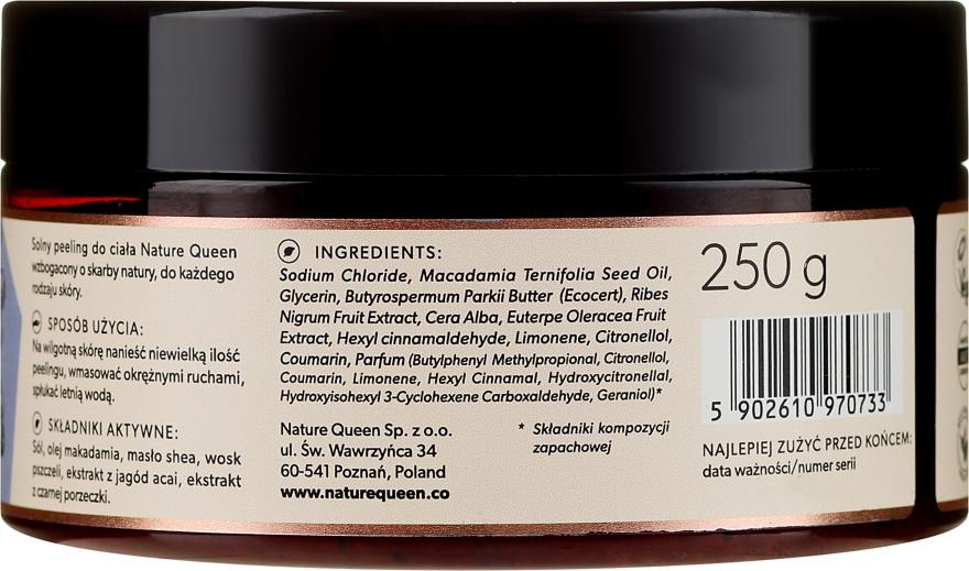 Peeling solny do ciała Jagody acai - Nature Queen Linia antyoksydacyjna — фото N2