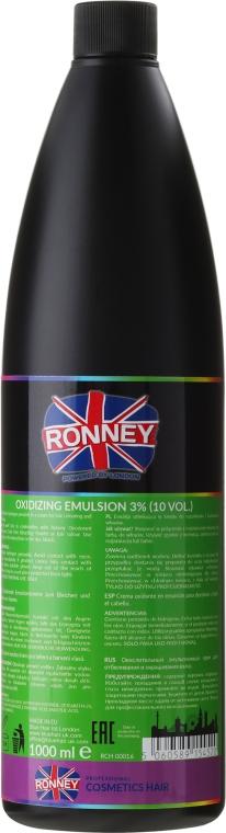 Emulsja utleniająca w kremie do rozjaśniania i farbowania włosów 3% 10 Vol. - Ronney Professional Oxidant Creme  — фото N2
