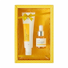 Kup Zestaw - iUNIK Propolis Vitamin Eye Cream Set (eye/cr/30ml + ser/15ml)
