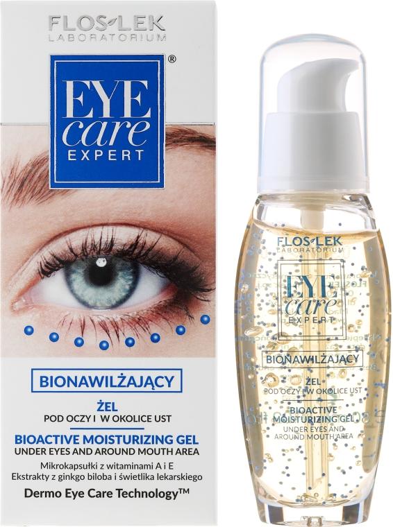 Żel bionawilżający pod oczy i w okolice ust - Floslek Eye Care Bioactive Moisturizing Gel Under Eyes And Around Mouth Area
