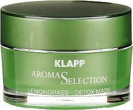 Detoksykująca kremowa maska do twarzy Trawa cytrynowa - Klapp Aroma Selection Lemongrass Detox Mask — фото N2