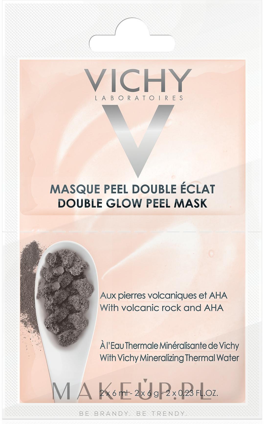 Peelingująca maska rozświetlająca - Vichy Double Glow Peel Face Mask Review — фото 2x6 ml
