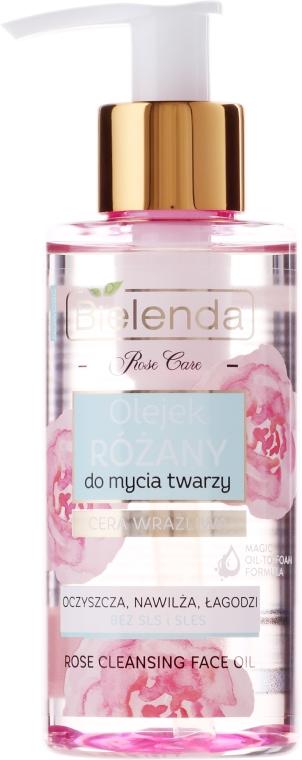 Olejek różany do mycia twarzy - Bielenda Rose Care