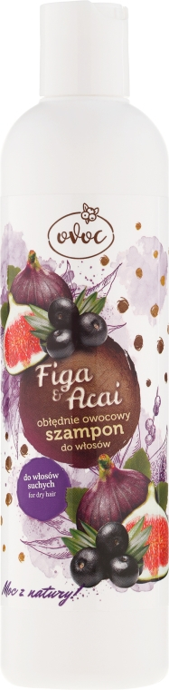 Obłędnie owocowy szampon do włosów suchych - Ovoc Figa i acai