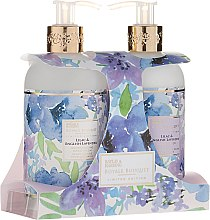Zestaw do pielęgnacji ciała - Baylis & Harding Royal Bouquet Lilac & English Lavender (b/lot 300 ml + soap 300 ml) — фото N1