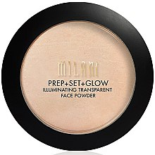 Kup Transparentny puder rozświetlający do twarzy - Milani Prep + Set + Glow Illuminating Transparent Powder
