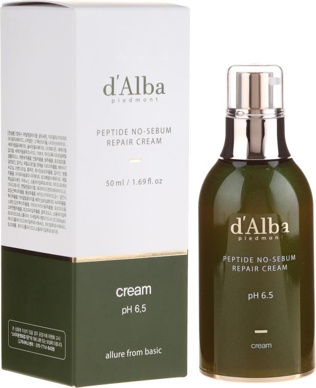 Naprawczy krem peptydowy regulujący wydzielanie sebum - D'Alba Peptide No-Sebum Repair Cream — фото N1