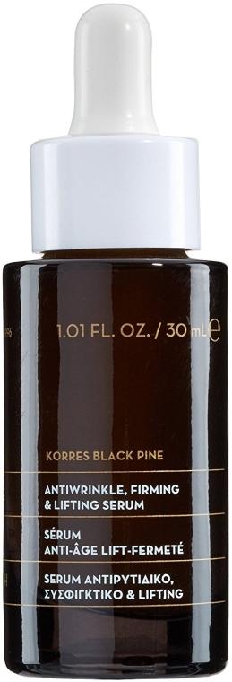 Przeciwzmarszczkowe serum do twarzy - Korres Black Pine Antiwrinkle, Firming & Lifting Serum — фото N1