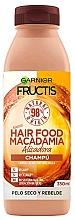 Kup Szampon regenerujący do włosów zniszczonych - Garnier Fructis Hair Food Macadamia Smoothing Shampoo