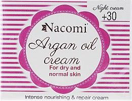 Kup Arganowy krem z kwasem hialuronowym do twarzy na noc 30+ - Nacomi