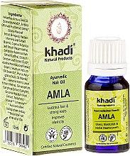 Kup Ajurwedyjski olejek do włosów Amla - Khadi Amla Hair Oil (miniprodukt)