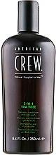 Kup Preparat 3 w 1 do pielęgnacji włosów i ciała Drzewo herbaciane dla mężczyzn - American Crew Tea Tree 3-in-1 Shampoo, Conditioner And Body Wash