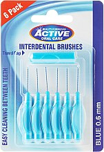 Kup Szczoteczki międzyzębowe, 0,6 mm, niebieskie - Beauty Formulas Active Oral Care Interdental Brushes Blue