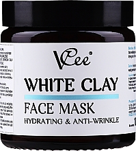Kup Nawilżająca maska przeciwzmarszczkowa z białej glinki do twarzy - VCee White Clay Face Mask Hidrating&Anti-Wrinkle
