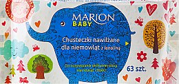 Kup Chusteczki nawilżane dla niemowląt z lanoliną, 63 szt. - Marion