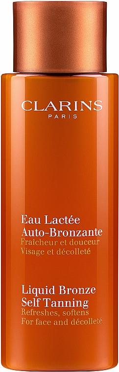 Samoopalający koncentrat rozświetlający do twarzy i dekoltu - Clarins Liquid Bronze Self Tanning — фото N1