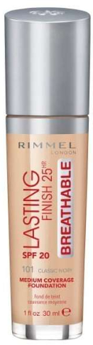 Lekki podkład do twarzy - Rimmel Lasting Finish 25HR Breathable Foundation SPF 20