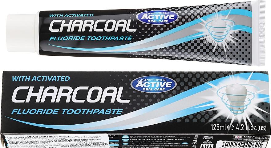 Pasta do zębów z węglem aktywnym - Beauty Formulas Charcoal Activated Fluoride Toothpaste