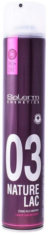 Mocny hipoalergiczny lakier do włosów - Salerm Pro Line Nature Lac — фото N1