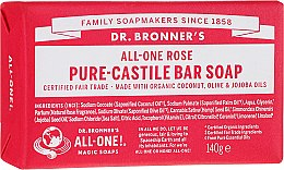 Kup Mydło w kostce Róża - Dr. Bronner's Pure Castile Bar Soap Rose