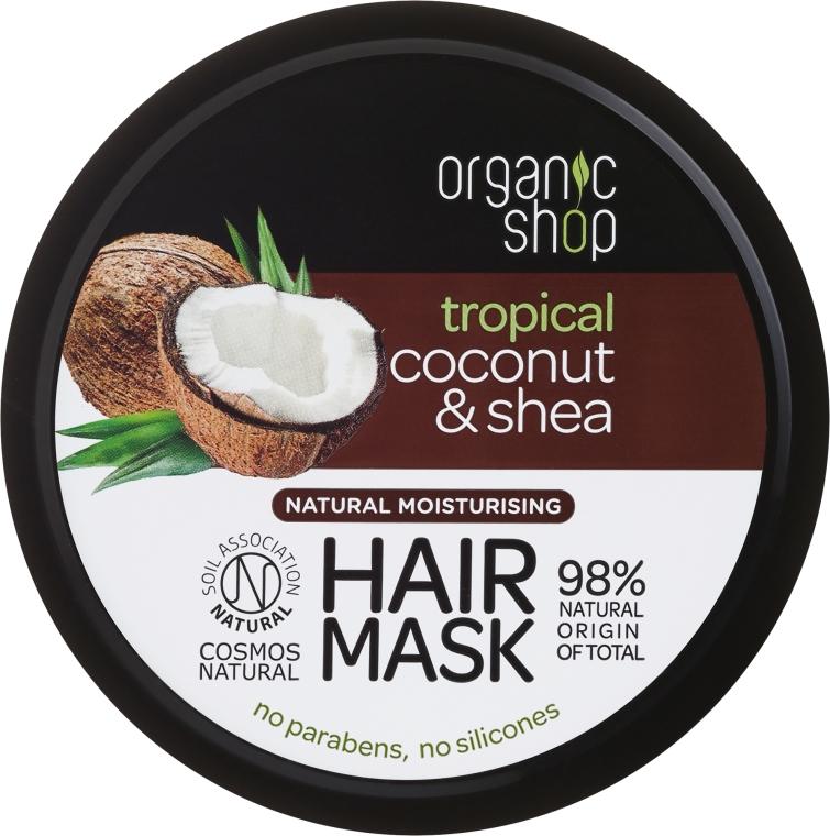 Naturalna maska nawilżająca do włosów Tropikalny kokos i masło shea - Organic Shop Coconut & Shea Moisturising Hair Mask