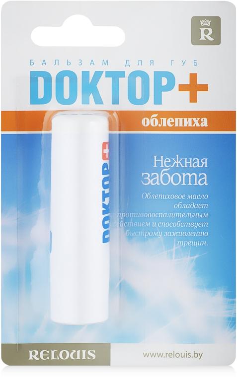 Rokitnikowy balsam do ust Doktor+ czuła opieka - Relouis — фото N1