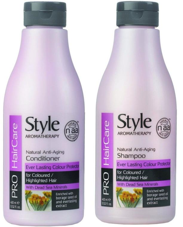 Zestaw Długotrwała ochrona koloru - Style Aromatherapy Pro HairCare (shmp/400ml + cond/400ml) — фото N1