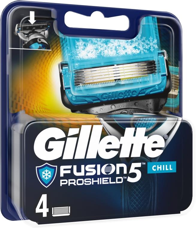 Wymienne wkłady do maszynki do golenia, 4 szt. - Gillette Fusion Proshield Chill — фото N1