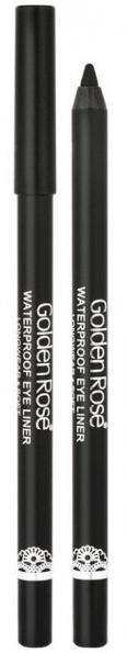 Wodoodporna intensywnie czarna kredka do oczu - Golden Rose Waterproof Eyeliner Longwear & Soft Ultra Black