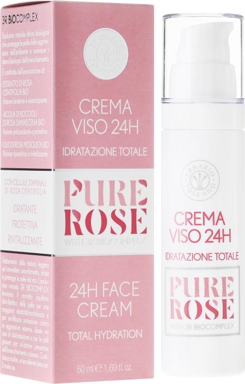 Nawilżający krem do twarzy - Erbario Toscano Biocomplex Pure Rose 24H Face Cream — фото N1