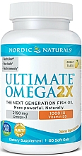Kup Suplement diety Omega 2x+Witamina D3 o smaku cytrynowym, 2150 mg - Nordic Naturals Omega 2X With Vitamin D3