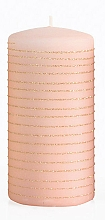 Kup Świeca dekoracyjna, różowo-złoty walec, 7 x 18 cm - Artman Andalo