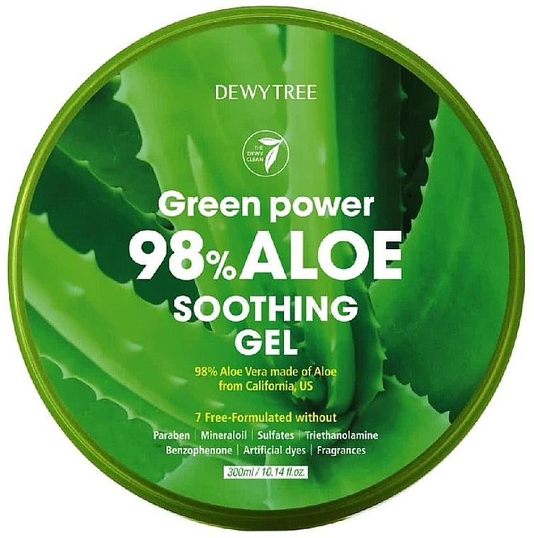Kojący żel z aloesem - Dewytree Green Power Aloe Soothing Gel — фото N1