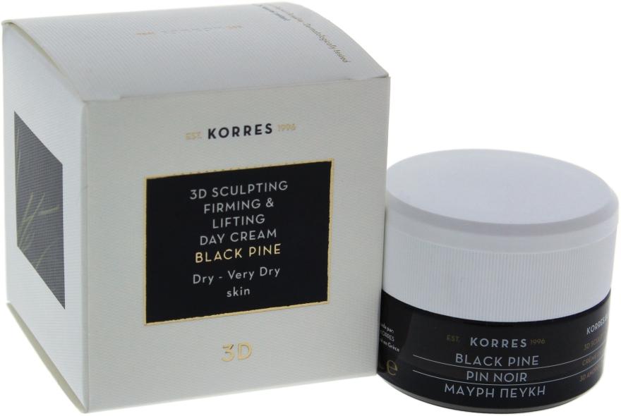 Modelujący krem ujędrniający na dzień do cery suchej i bardzo suchej - Korres Black Pine 3D Sculpting, Firming & Lifting Day Cream Dry And Very Dry Skin — фото N4