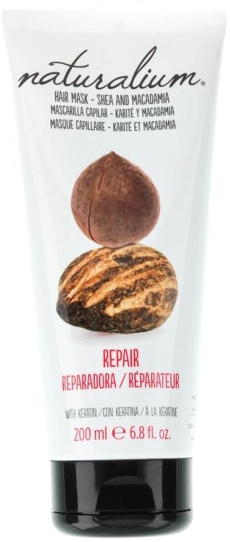 Regenerująca maska z keratyną - Naturalium Hair Mask She And Macadamia — фото N1