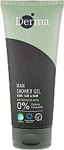 Kup Żel pod prysznic dla mężczyzn do mycia ciała, twarzy i włosów - Derma Man Body Face & Hair Shower Gel
