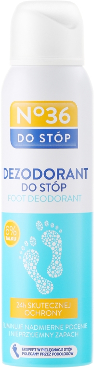 Odświeżający dezodorant do stóp z talkiem - Pharma CF No.36 — фото N1