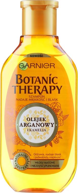 Szampon do włosów matowych i niezdyscyplinowanych Olej arganowy i kamelia - Garnier Botanic Therapy